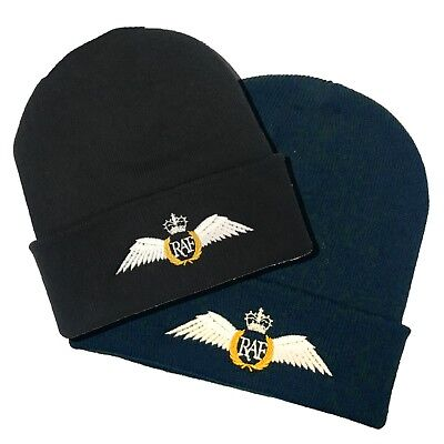 RAF Brevet Wings Embroidered Beanie Hat • 8.25£