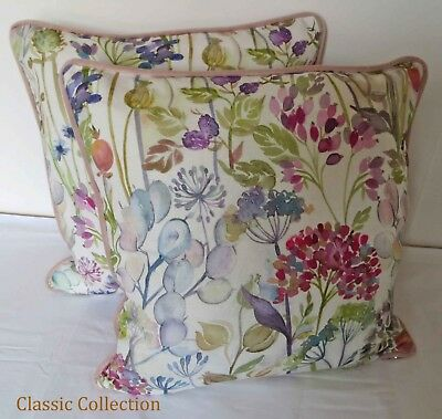 £19.95 • Buy Voyage  Hedgerow Cream -handmade Piped Cushion Cover With Velvet- Choice Of Size