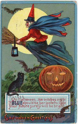 $ CDN90.69 • Buy Halloween Postcard, Published By Landsdorf, S. Series 0685 - Blue Trim