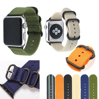 AU11.73 • Buy 40/44mm Nylon Sports Band Watch Strap For Apple Watch Series 6 5 4 3 2 IWatch SE