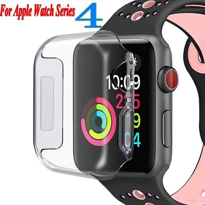 $ CDN3.98 • Buy For Apple Watch Series 4 Full Body Cover TPU Case Screen Protector Tempere Glass
