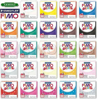 Fimo Kids Soft Polymer Modelling Oven Bake Clay 42g-Choice Of 24 Vibrant Colours • 1.75£