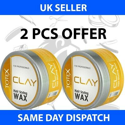 Totex Hair Styling Wax Clay Ultra Strong Mess Up Look 150ml (2 Pcs Offer) • 7.99£