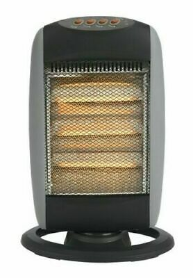 £39.95 • Buy 2 X PORTABLE ELECTRIC OSCILLATING HALOGEN HEATER 1200W 3 HEAT SETTING HOME OFFIC