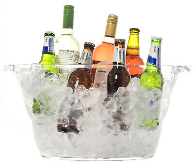 Andes Large 12L Acrylic Ice Bucket Champagne Wine Beer Drinks Cooler • 14.99£