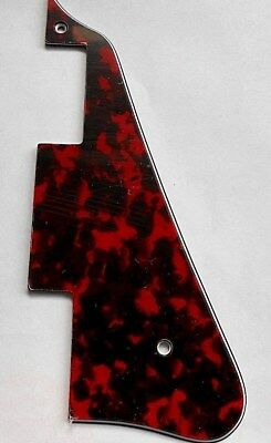 £6.99 • Buy Tiger Red Les Paul Shape Electric Guitar Pickguard Scratchplate 3 Ply