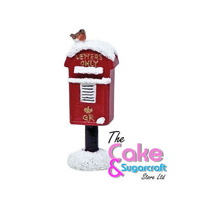 Post Box Cake Topper Decoration Xmas Christmas British Free Delivery • 6.99£