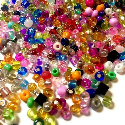 £2.99 • Buy 1000x Multi Colour 3mm-5mm Glass Beads For Jewellery Craft Making