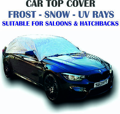 Car Top Cover Medium Waterproof Resistant Half Frost Protection UV Rays Saloon • 9.99£