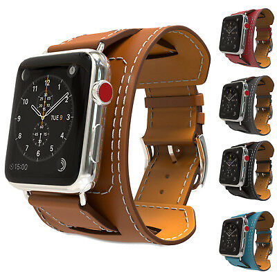 $ CDN20.99 • Buy MoKo Genuine Leather Watch Band Strap Replacement For Apple Watch Series 4/3/3/1