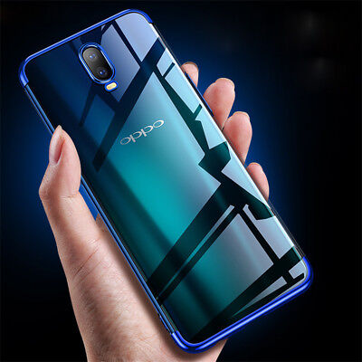 AU3.50 • Buy For OPPO F9 F7 F5 A5 A83 R17 R15 Pro Slim Plating Soft TPU Clear Back Case Cover