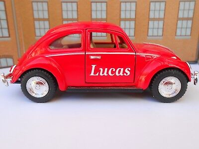 VW BEETLE PERSONALISED NAME Toy Car MODEL Boy Dad Mom Sister BIRTHDAY GIFT NEW • 8.95£