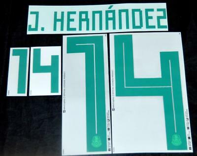 $17.50 • Buy Mexico J.hernandez World Cup 2018 Football Shirt Name/Number Set Sporting ID A