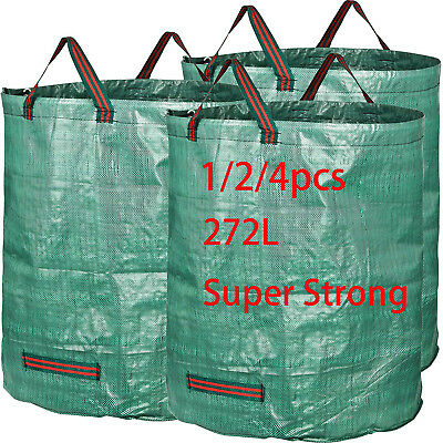 £5.99 • Buy Super Large Garden Waste Bag Strong 272L Heavy Duty Refuse Sacks With Handles UK