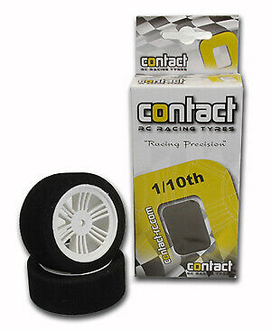 Contact RC Foam Tyres - 1/10 Rear L30mm Damp - J11504 • 5.88£