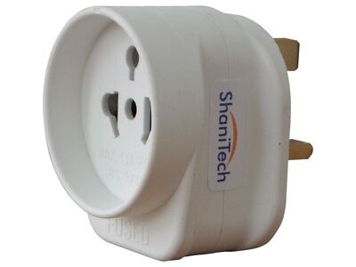 AU8.88 • Buy ShaniTech Worldwide Europe USA Asia Australia To UK Travel Adaptor Plug Adapter