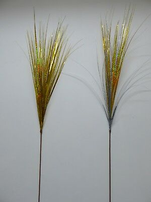 Artificial Flowers - 90CM Silver And Gold Glitter Spray Onion Grass  • 6.98£