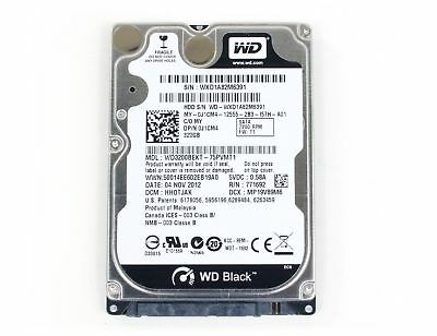 AU25 • Buy Western Digital Scorpio Black 320 GB 2.5  Internal Hard Drive - WD3200BEKT