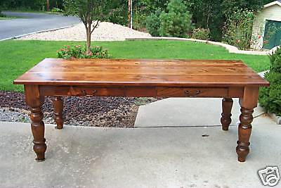 $1650 • Buy Antique Heart Pine Harvest/Dining Table, Reclaimed, Farmhouse, Rustic