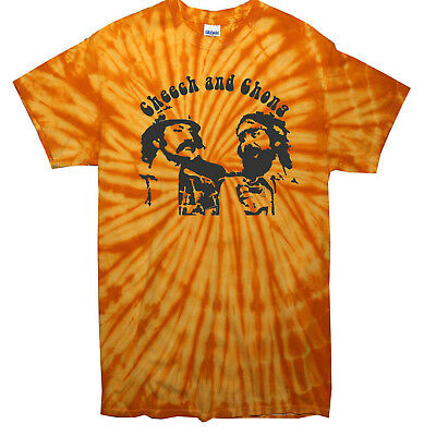 CHEECH AND CHONG Cult Tv Movie Comedy Hippy Retro Tie Dye T Shirt All Sizes • 15.99£
