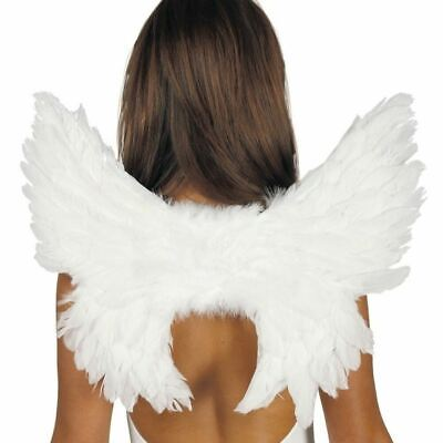 £6.69 • Buy White Feathers Wings Angel Fairy Christmas Fancy  Dress Party Accessory