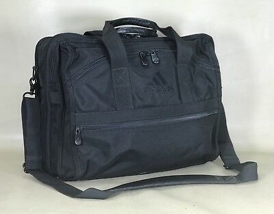 "$101.05 • Buy Adidas Black Ballistic Nylon 17"" Expandable Laptop Business Briefcase"