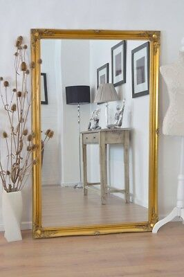 £147.59 • Buy Extra Large Full Length Gold Wall Painted Wood Mirror Antique 5Ft6 X 3Ft6