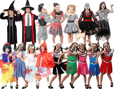 Girls Halloween Fancy Dress Costume Killer Scary Kids Outfit S M L Xl Childs • 12.99£