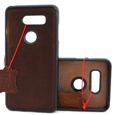 AU19.36 • Buy Genuine Leather Case For LG V30 Magnetic Soft Rubber Slim Cover Handmade Holder