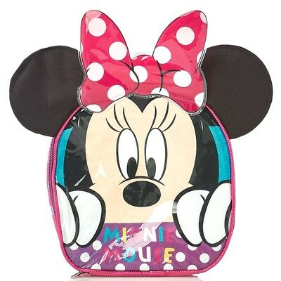 Minnie Mouse Lunch Box Bag  Insulated With 3D Ears • 7.50£