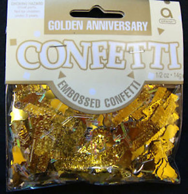 14g Golden Anniversary Confetti Gold 50 Year 50th Wedding Party Table Decoration • 2.35£
