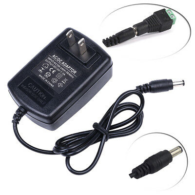 $6.99 • Buy Ac Dc 12v 2a Us Power Supply Adapter Charger For Camera / Led Strip Light Cctv