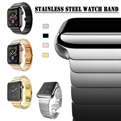 $ CDN20.33 • Buy 40/44mm Stainless Steel Link Band Strap For Apple Watch Series 6 5 4 3 IWatch SE