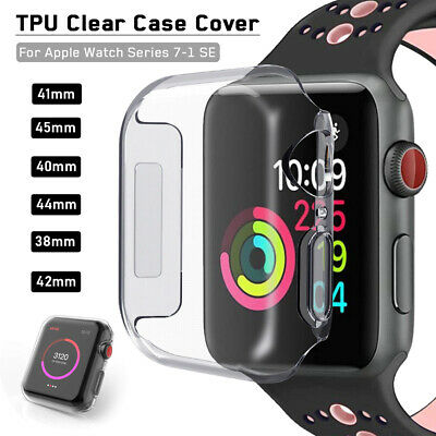 $ CDN3.75 • Buy 38/42/40/44mm Soft TPU Clear IWatch Case Cover For Apple Watch Series 6 5 4 3 SE