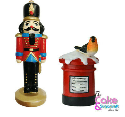 Soldier Cake Topper Or Post Box Christmas  Decoration Christmas Nutcracker  • 5.99£