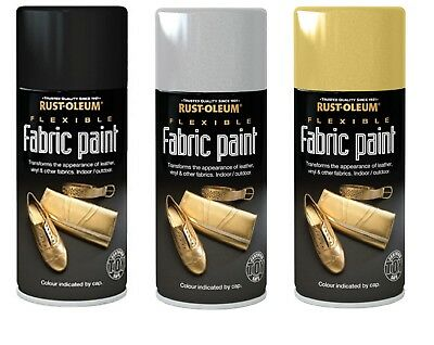 Fabric Spray Can Paint 150ml Dye Silver Gold Black Mask Leather Vinyl Toy Safe  • 6.96£