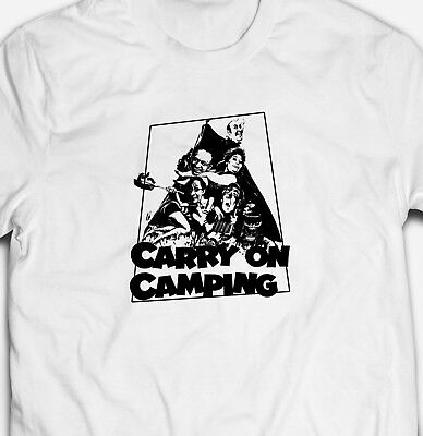 £9.49 • Buy FUNNY CARRY ON CAMPING CULT CLASSIC MOVIE FIM Mens-Fit 100% Cotton T-shirt TEE