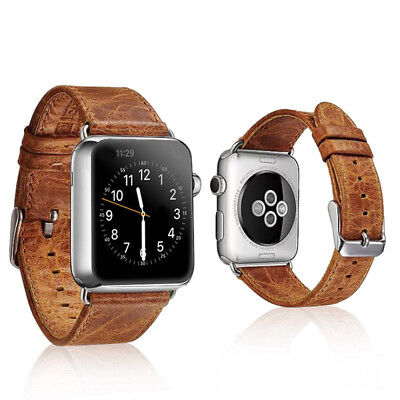 $ CDN11.80 • Buy 40/44mm Retro Leather Band Casual Strap For Apple Watch Series 6 5 4 3 IWatch SE