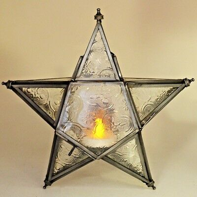 $22 • Buy Moroccan Style Lantern Iron Hanging Star Antique LED Tea Light Candle Holder