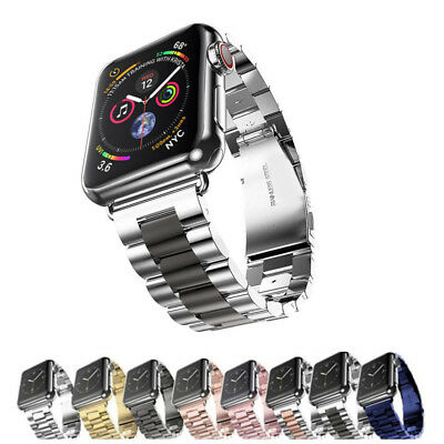 $ CDN10.30 • Buy 40/44mm Stainless Steel Link Band For Apple Watch Series 6 5 4 3 IWatch SE Strap
