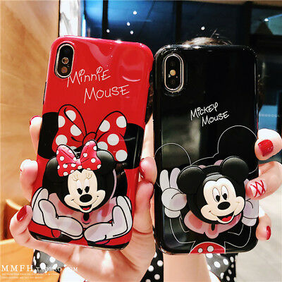 AU10.26 • Buy For IPhone 12 11 Pro XS Max 7 8 Cute Cartoon Disney Stand Holder Soft Phone Case