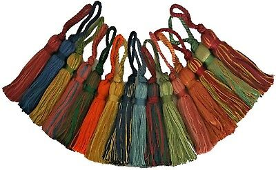Cotton Key Tassels X4, Cushions/blinds/curtains Etc, Assorted Cols, Art 12.656 • 4.79£