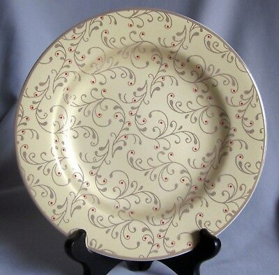 $8.50 • Buy Salad Plate Roscher & Co. Christmas Scroll Pattern