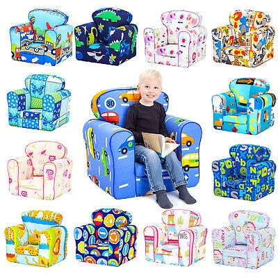 Children's Armchair Kids Toddler Seat Removable Cover Padded Upholstered Chair • 39.97£