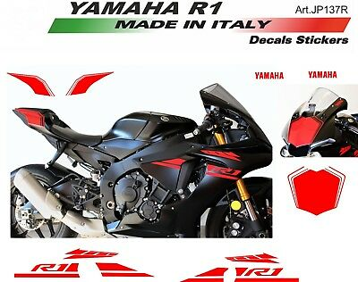 AU187.96 • Buy Stickers Kit For Fairings Yamaha R1 Red 2015/18