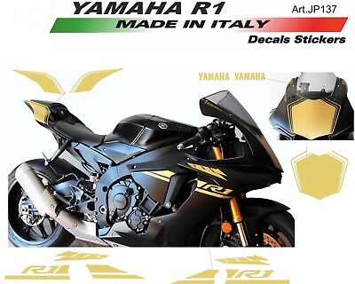 AU187.96 • Buy Stickers Kit For Fairings Yamaha R1 Gold 2015/18