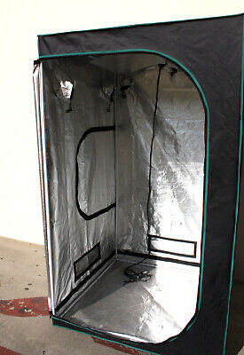 AU205.95 • Buy 48  X 48  Hydroponic Indoor Mylar Reflective Grow Tent Room W/Ventilating Output