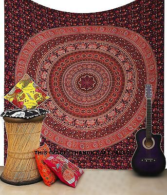 AU32.99 • Buy Urban Outfitters Wall Decor Tapestry Hippie Elephant Mandala Bed Cover Throw