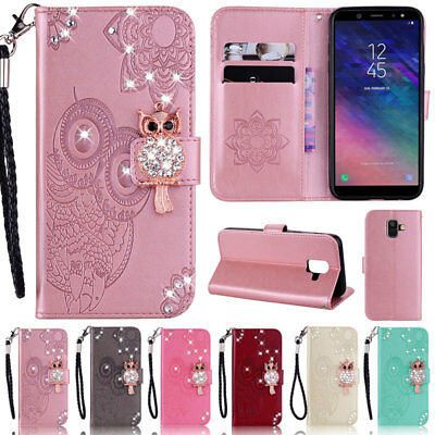 $ CDN9.75 • Buy Bling Owl Wallet Leather Flip Case Cover For Samsung S20 S10 S9 Plus A21 A51 A41