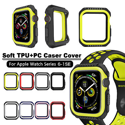 $ CDN4.86 • Buy 40/44mm Soft PC+TPU Case Cover IWatch Protector For Apple Watch Series 6 5 4 SE